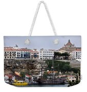 A Galleon At Bottom Of Port Mahon Menorca One Of The Largest Natural Harbours In The World Weekender Tote Bag