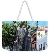 La Rogativa Sculpture Old San Juan Puerto Rico Weekender Tote Bag by Shawn O'Brien