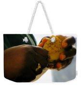 Labors Of Love Weekender Tote Bag by Karen Wiles
