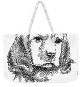 Labrador-portrait-drawing Weekender Tote Bag