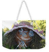 Lace And Straw Weekender Tote Bag