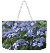 Lace Cap Hydrangeas In Bloom Weekender Tote Bag