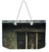 Lady By Window Of Tudor Mansion Weekender Tote Bag