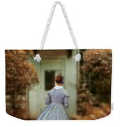 Lady In 19th Century Clothing By Conservatory Weekender Tote Bag