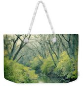 Lady In A Row Boat On A River Weekender Tote Bag