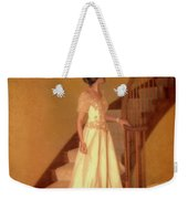 Lady In Lace Gown On Staircase Weekender Tote Bag