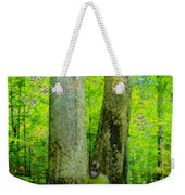 Lady In The Woods Weekender Tote Bag