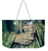 Lady In Tudor Gown With Crucifix Weekender Tote Bag