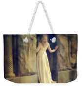 Lady In White Gown In Doorway Weekender Tote Bag