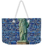 Lady Liberty Mosaic Weekender Tote Bag