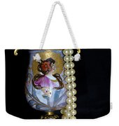 Lady Vase And Pearls Weekender Tote Bag