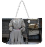 Lady Waiting In Train Depot Weekender Tote Bag
