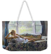 Lady With A Book Weekender Tote Bag