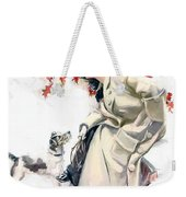 Lady With Dog Weekender Tote Bag
