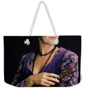 Lady With Recorder Weekender Tote Bag