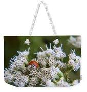 Ladybug Atop The Flowers Weekender Tote Bag