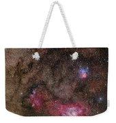 Lagoon Nebula And Trifid Nebula Weekender Tote Bag