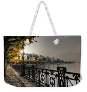 Lake Front With Autumn Trees Weekender Tote Bag