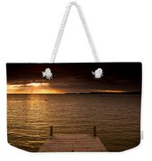 Lake Huron Dock Weekender Tote Bag