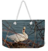 Lake Ontario Swan Weekender Tote Bag
