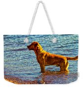 Lake Superior Puppy Weekender Tote Bag