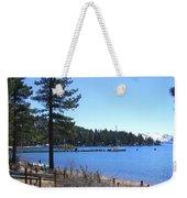Lake Tahoe Dock Weekender Tote Bag