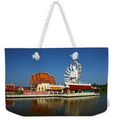 Lake Temple Weekender Tote Bag