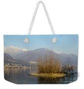 Lake With Island Weekender Tote Bag
