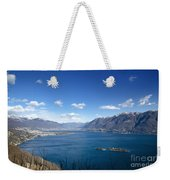 Lake With Islands And Snow-capped Mountain Weekender Tote Bag