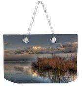 Lake With Pampas Grass Weekender Tote Bag