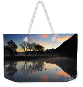 Lake With Trees And Ducks Weekender Tote Bag
