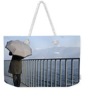 Lakefront With A Umbrella Weekender Tote Bag