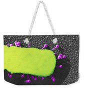 Lambda Phage On E. Coli Weekender Tote Bag
