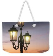 Lampost Sunset In Venice Weekender Tote Bag