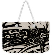 Land Sea Sky In Black And White Weekender Tote Bag by Caroline Street