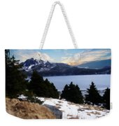Land With A View Painterly Weekender Tote Bag