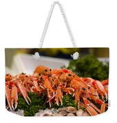 Langoustines At The Market Weekender Tote Bag