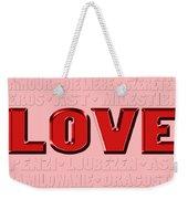 Language Of Love 4 Weekender Tote Bag