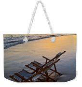 Lanikai Chairs At Sunrise Weekender Tote Bag