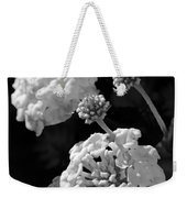 Lantana In Black And White Weekender Tote Bag