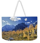 Larch Trees From The Saddleback Trail Weekender Tote Bag