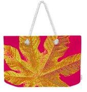 Large Leaf Photoart Weekender Tote Bag