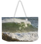 Large Waves And Seagulls Near Pemaquid Point On Maine Weekender Tote Bag