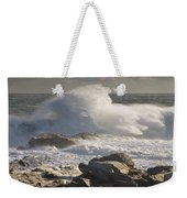 Large Waves Near Pemaquid Point On The Coast Of Maine Weekender Tote Bag