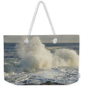 Large Waves On Rocky The Coast Maine Weekender Tote Bag