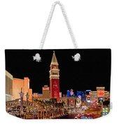 Las Vegas Canvas Panorama Weekender Tote Bag