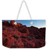 Last Light In Valley Of Fire Weekender Tote Bag