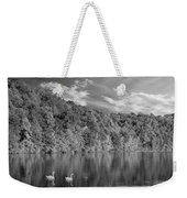 Late Afternoon At The Lake - Bw Weekender Tote Bag