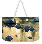 Late Afternoon Reflections In Merced River In Yosemite Valley Weekender Tote Bag