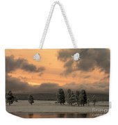 Late Spring Storm In Yellowstone Weekender Tote Bag